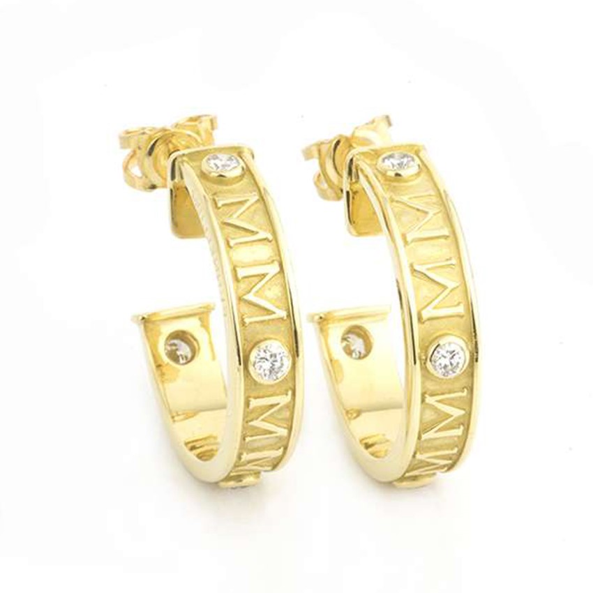 Theo Fennell Gold Earrings with Diamonds