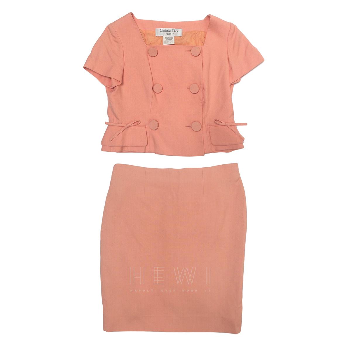 Christian Dior Vintage Pink Skirt Suit