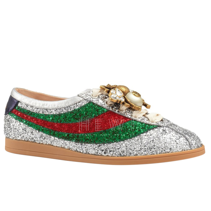gucci glitter bee sandals