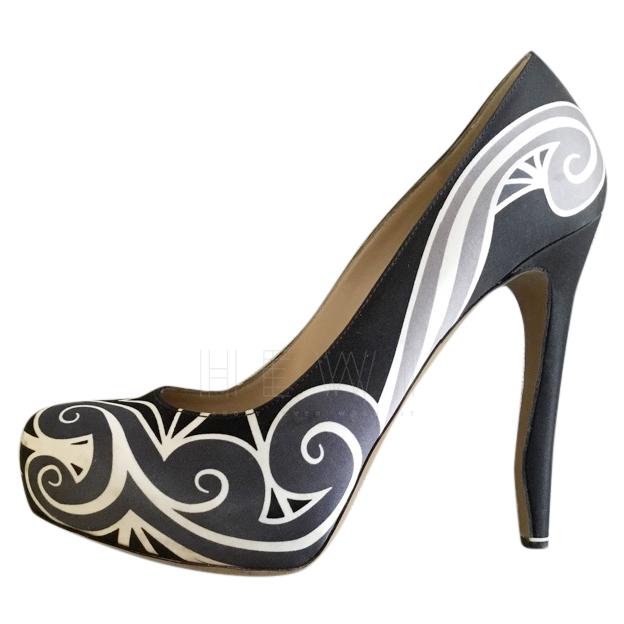 Nicholas Kirkwood patterned satin pumps