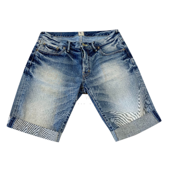 PRPS Turn-Up Denim Shorts