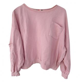 MSGM Pink Crew Neck Sweater