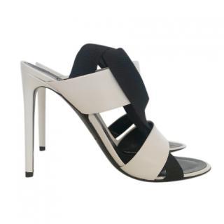 Balenciaga Two-Tone Leather Sandals