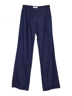 Valentino wide leg denim trousers