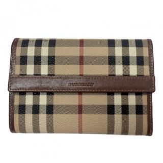 Burberry canvas check wallet/purse