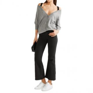 Theory Saline B grey cashmere cardigan