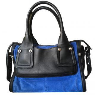 Sportmax bi-colour suede and leather handbag