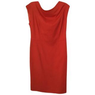 Escada V-back Red Dress