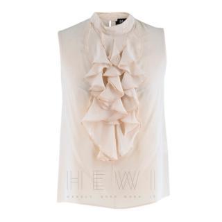 Madderson London Pink Silk Sleeveless Top
