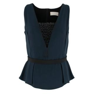 Peter Pilotto Navy Embellished Sleeveless Top