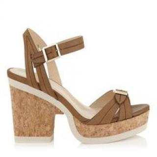 Jimmy Choo Nemesis Vachetta Leather wedge sandals