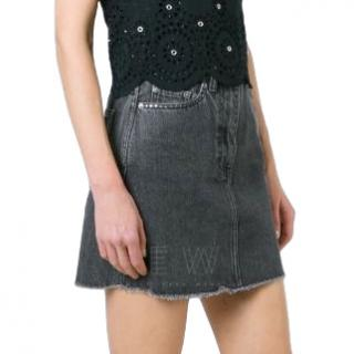Marc by Marc Jacobs cherry embellished denim skirt
