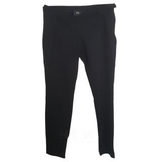 Cavalli Class Black stretch Trousers
