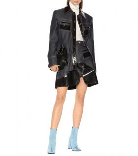 Ellery Vinyl-Panel Denim Jacket
