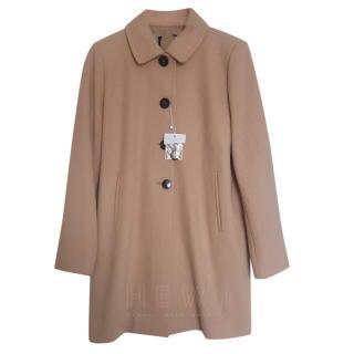 MaxMara Point-Collar Beige Coat