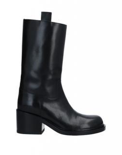 AF Vandevorst Black Leather Biker Boots