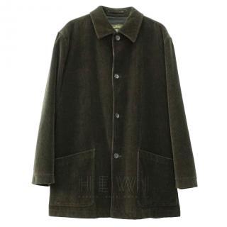 Ermenegildo Zegna Green Corduroy Jacket