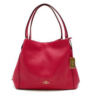 Coach Pink Pebbled-Leather Edie 31 Tote Bag