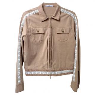CH Carolina Herrera Logo-Tape Zip-Through Jacket