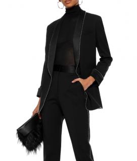 Alexander Wang Bead-Embellished Black Wool-Blend Blazer