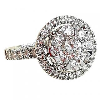 Bespoke 18ct White-Gold Diamond-Encrusted Ring