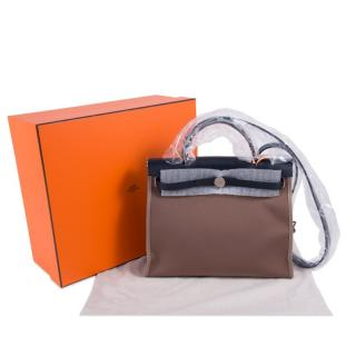 Hermes Herbag 31 Canvas Etoupe bag