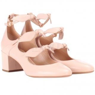Chloe pink leather mary jane pumps
