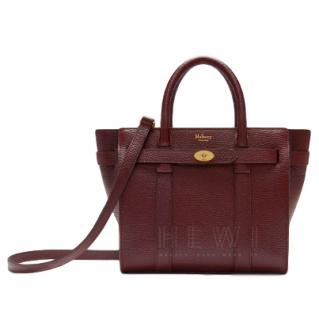 Mulberry burgundy/brown grained leather tote bag