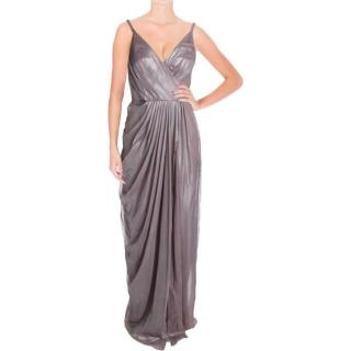 Vera Wang Dress silver chiffon gown