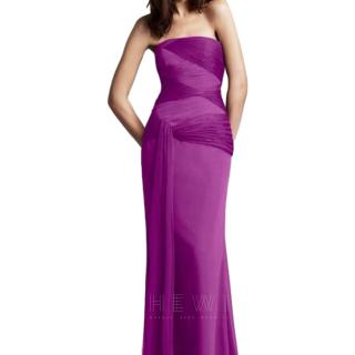 White by Vera Wang Strapless Purple Gown