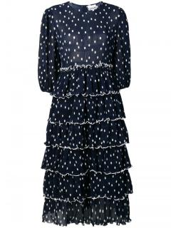 Ganni navy blue Lowell dress