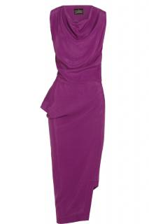 Vivienne Westwood Anglomania draped magenta dress
