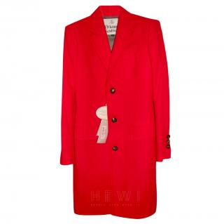 Vivienne Westwood Single Breasted Red Coat