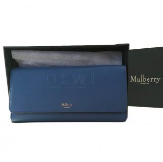 Mulberry Blue Leather Continental Wallet