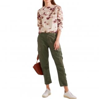 Re/Done Cropped Military Cargo Trousers