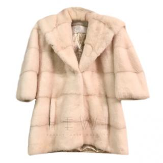 Cesare Furs Cream Mink Coat