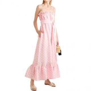 Lisa Marie Fernandez Liz Pink Polka-Dot Dress