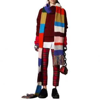 Burberry Oversized Striped Wool Scarf