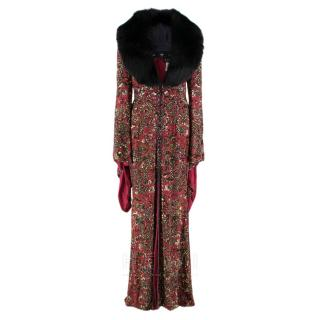 Escada Embellished Vintage Gown