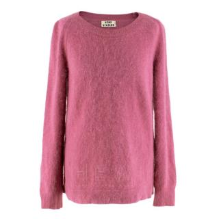 Acne Deep Pink Mohair Sweater