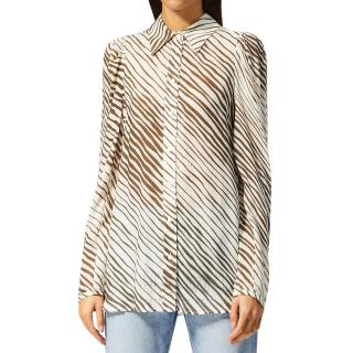 See by Chloe Brown & White Striped Shirt