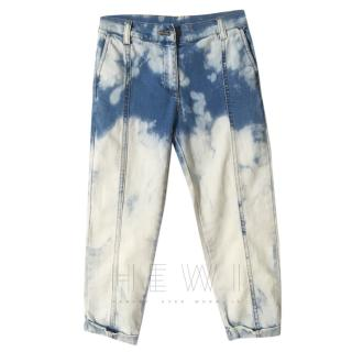 No.21 Tie Dye Carrot-Fit Girls Jeans