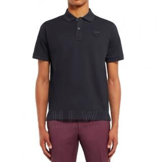 Prada navy blue polo shirt