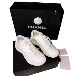 Chanel Triple White Low-Top Trainers