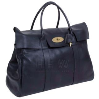 Mulberry Piccadilly Black Leather Weekend Bag