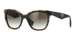 Prada  black square sunglasses with tortoiseshell contrast trim