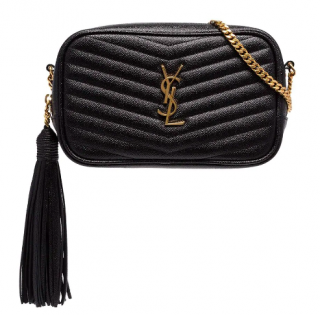 Saint Laurent Mini Lou Leather Cross-Body Bag