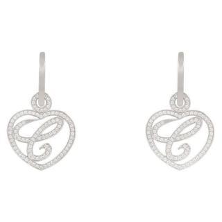 Chopard Happy Diamond & White-Gold Earrings
