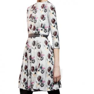 Cacharel Floral-Print Fluted Dress