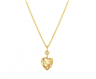 Chopard Heart-Pendant Rose-Gold Necklace